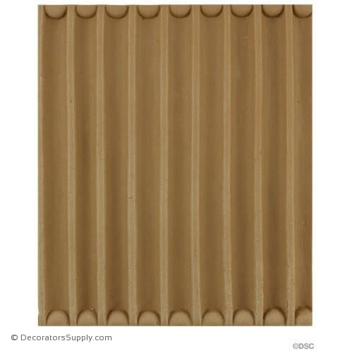 Fluted-Colonial 6 3/8H - 7/16Rel - CALL FOR PRICING-moulding-for-furniture-woodwork-Decorators Supply