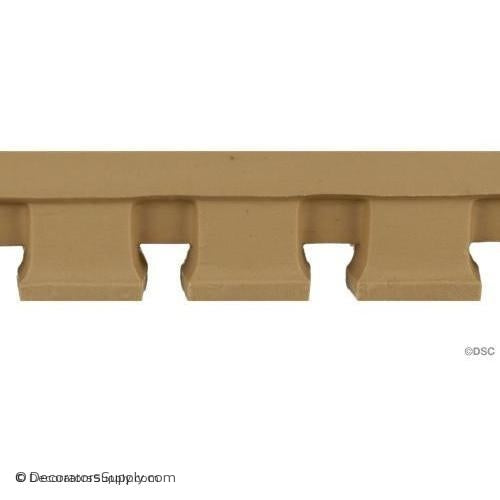 Dentil - Modern 1 1/2H - 5/8Relief-moulding-for-furniture-woodwork-Decorators Supply