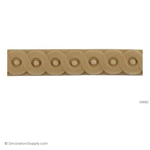 Running Coin - French 1 1/8H - 1/4Relief-moulding-for-furniture-woodwork-Decorators Supply