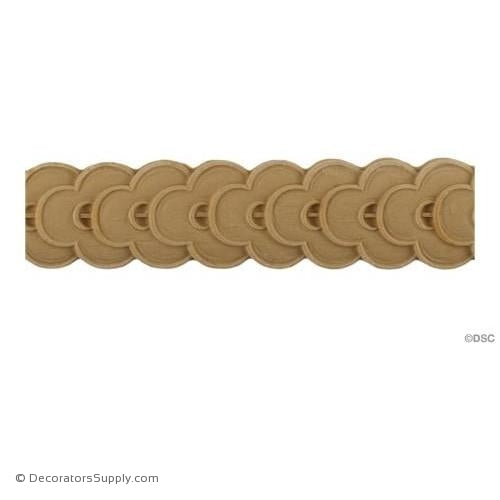 Running Coin - French 1 3/4H - 1/4Relief-moulding-for-furniture-woodwork-Decorators Supply