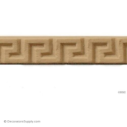 Greek Key-Classic 5/16H - 1/8Relief-moulding-for-woodwork-furniture-Decorators Supply