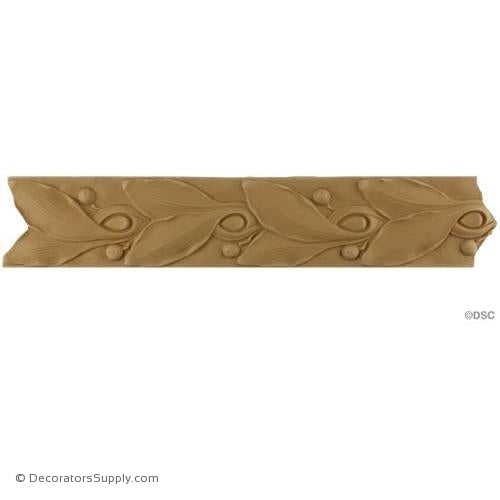 Leaf with Berries-Modern 3 1/8H - 5/16Relief-moulding-for-woodwork-furniture-Decorators Supply