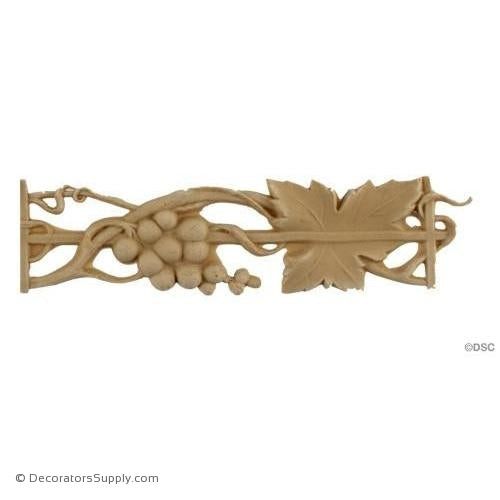 Grape Cluster and Leaf - 1 5/8H - 1/4Relief-moulding-for-furniture-woodwork-Decorators Supply