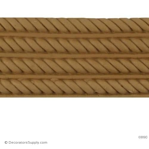 Rope-Spanish 2H - 3/16Relief-moulding-for-woodwork-furniture-Decorators Supply