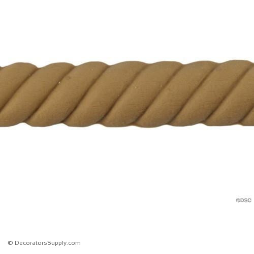 Rope-Spanish 5/8H - 3/8Relief-moulding-for-woodwork-furniture-Decorators Supply