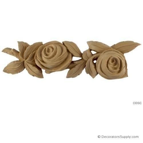 Rose Moulding - 2 1/2H - 1 1/4 Rel - Repeat 9 1/4-moulding-for-furniture-woodwork-Decorators Supply