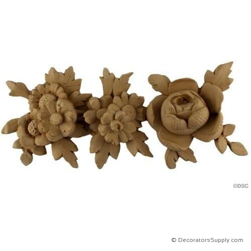 Rose and Floral Moulding -French 5H - 1 1/2Relief-moulding-for-furniture-woodwork-Decorators Supply
