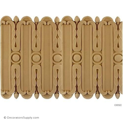 Fluted Moulding - 8 3/4H - 3/8Relief-moulding-for-furniture-woodwork-Decorators Supply