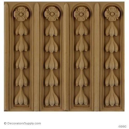 Fluted - French 7 7/8H - 1/2Relief-moulding-for-furniture-woodwork-Decorators Supply