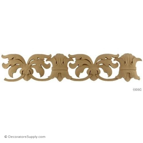 Leaf-Spanish 4H - 1/4Relief-woodwork-furniture-lineal-ornament-Decorators Supply