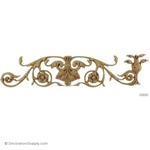 Acanthus and Scroll Linear - Italian 3 1/4H - 1/2Relief-lineal-pattern-for-woodwork-furniture-Decorators Supply