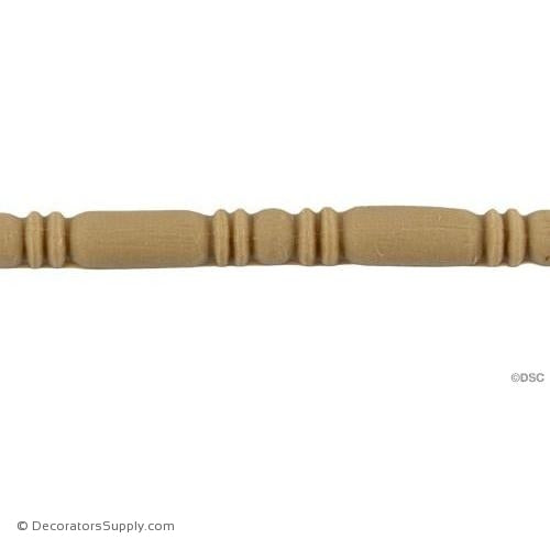Bead and Barrel-Italian 1/4H - 3/16Relief-furniture-woodwork-molding-Decorators Supply