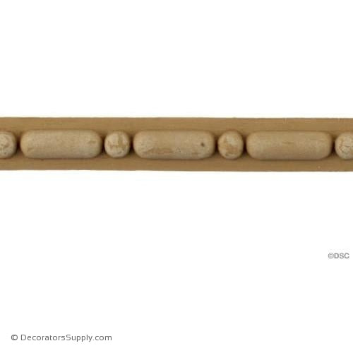 Bead and Barrel-Italian 1/2H - 5/16Relief-furniture-woodwork-molding-Decorators Supply