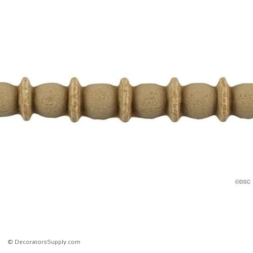 Bead and Barrel-Greek 3/8H - 1/4Relief-furniture-woodwork-molding-Decorators Supply