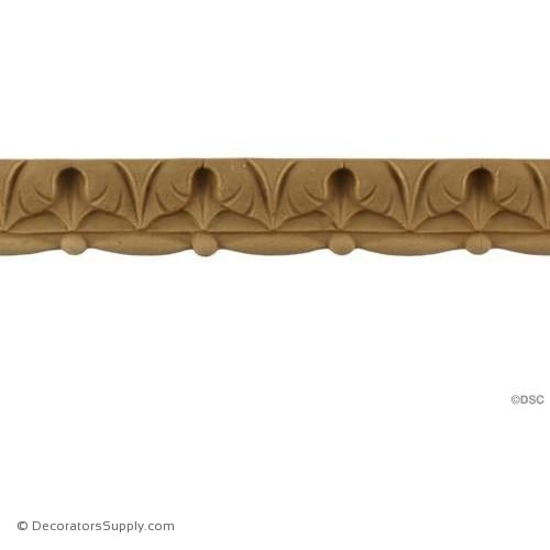 Lambs Tongue-Roman 7/8H - 3/8Relief-moulding-furniture-woodwork-Decorators Supply