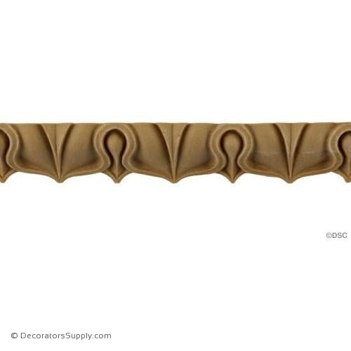 Lambs Tongue-Roman 3/4H - 5/8Relief-moulding-furniture-woodwork-Decorators Supply