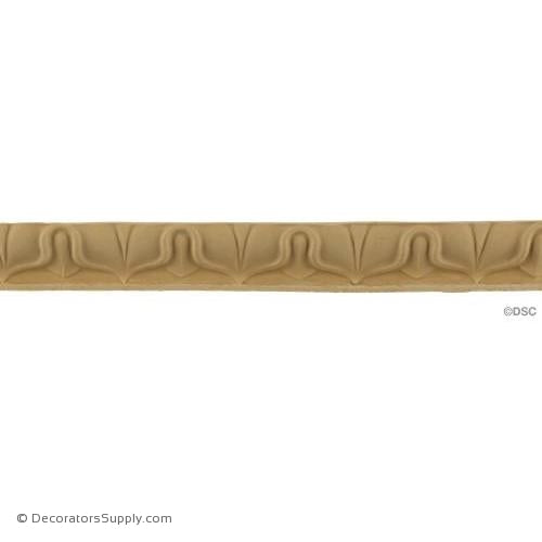 Lambs Tongue-Roman 7/8H - 5/8Relief-moulding-furniture-woodwork-Decorators Supply