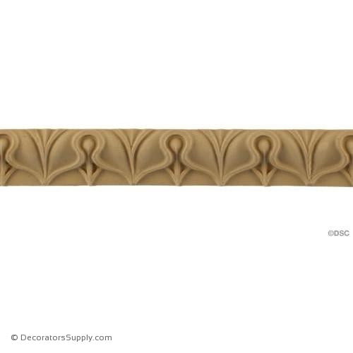 Lambs Tongue-Roman 1H - 3/4Relief-moulding-furniture-woodwork-Decorators Supply
