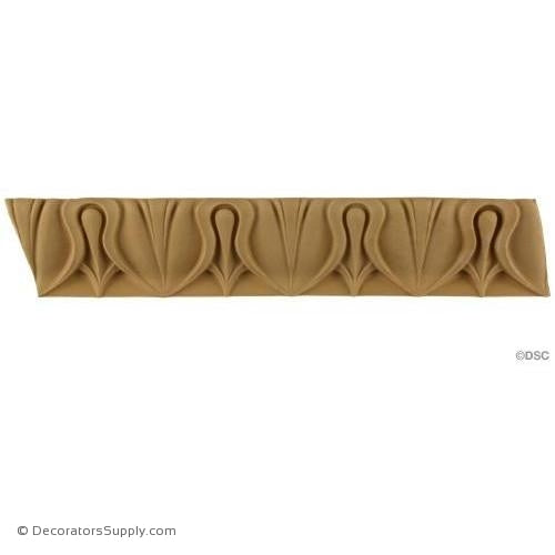 Lambs Tongue-Greek 2 1/8H - 1 1/4Relief-moulding-furniture-woodwork-Decorators Supply