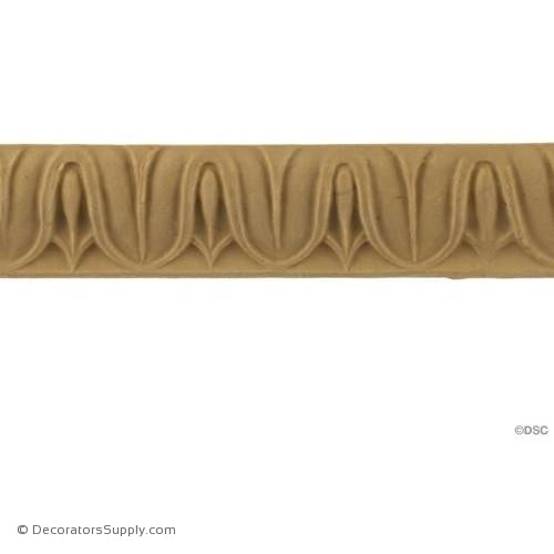 Lambs Tongue-Roman 1H - 5/8Relief-moulding-furniture-woodwork-Decorators Supply