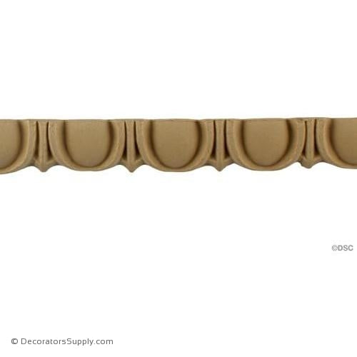 Egg and Dart-Roman 3/4H - 5/16Relief-woodwork-furniture moulding-Decorators Supply