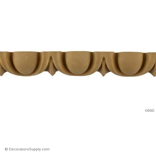 Egg and Dart-Roman 1 1/8H - 3/4Relief-woodwork-furniture moulding-Decorators Supply