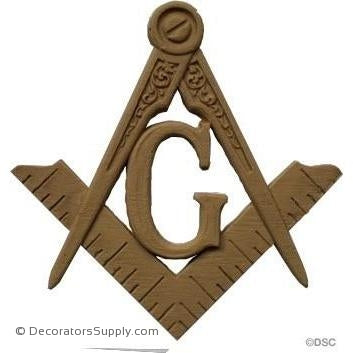 Masonic Applique 4 5/8H X 4 5/8W - 1/4Relief-ornaments-for-woodwork-furniture-Decorators Supply