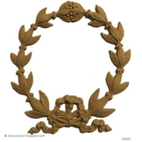Wreath 5 3/4 High 5 1/4 Wide-ornaments-for-woodwork-furniture-Decorators Supply