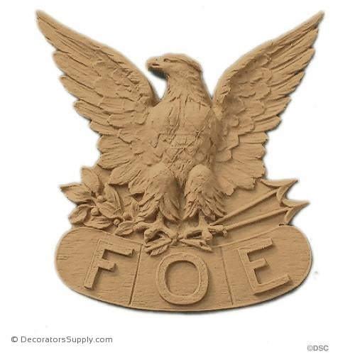 F.O.E. Emblem - 3 7/8H X 3 3/4W - 3/8Relief-Decorators Supply