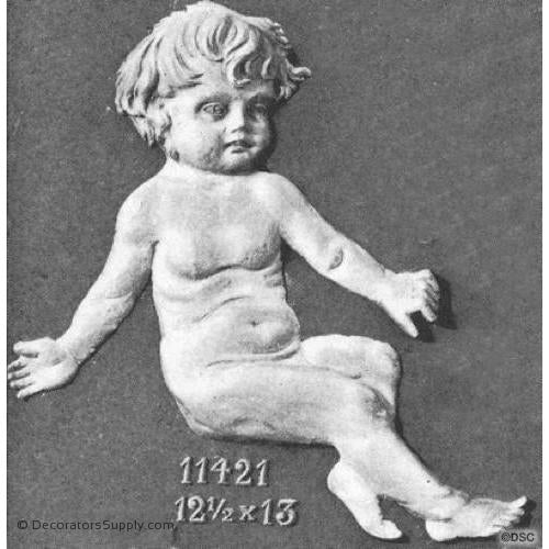 Animal-Child Accent 13H X 12 1/2W - 1 1/2Relief-historic-carving-library-victorian-styles-Decorators Supply
