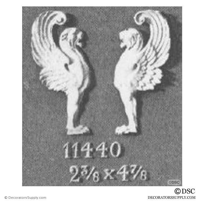 Decorative Griffin Applique for Wood 4 7/8H X 2 3/8W - 1/2Relief - Decorators Supply