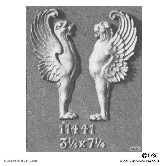 Decorative Griffin Applique for Wood 7 1/4H X 3 1/4W - 5/8Relief - Decorators Supply