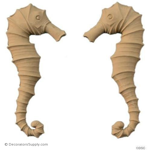 Sea Horse - 8H X 3 5/8W - 1/2Relief-Decorators Supply