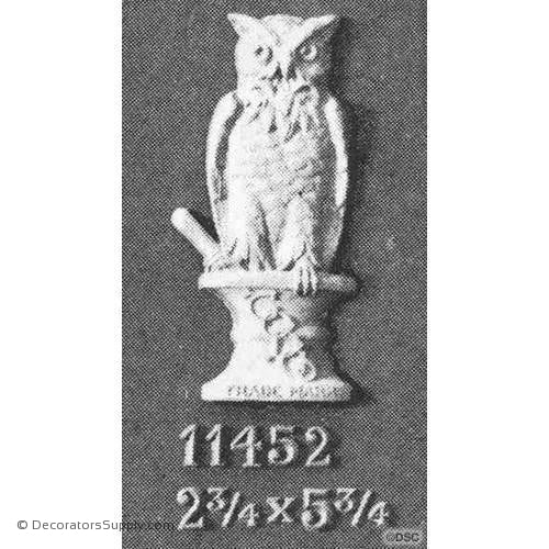 Animal-Owl 5 3/4H X 2 3/4W - 1/2Relief-Decorators Supply