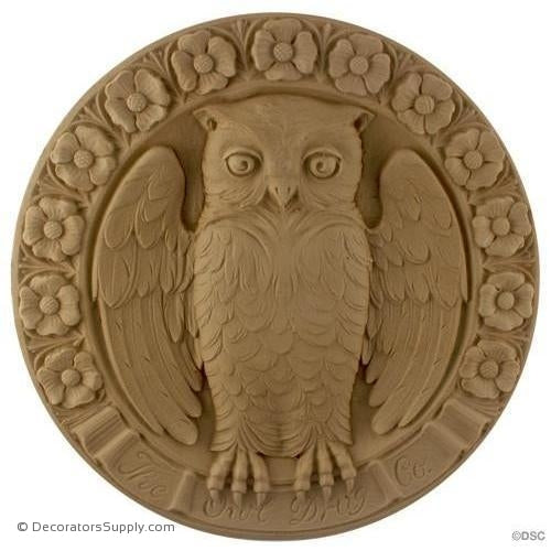 Bird   Owl   13 Diameter   1 1/8Relief Decorators Supply