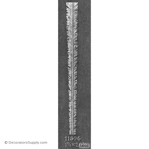 Peacock Feather - 20 3/8H X 1 7/8W - 1/4Relief-Decorators Supply