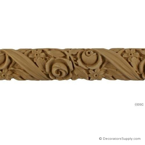 Rose Linear - Fr. Ren. Ft. 1 3/4H - 5/8Relief-moulding-for-furniture-woodwork-Decorators Supply