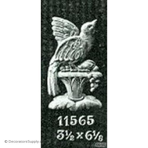 Bird-Fr. Ren. 6 1/8H X 3 1/2W - 1/4Relief-Decorators Supply
