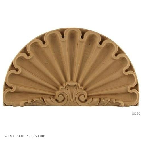 Shell-Louis XVI 7 1/4H X 12 7/8W - 1Relief-ornaments-for-woodwork-furniture-Decorators Supply