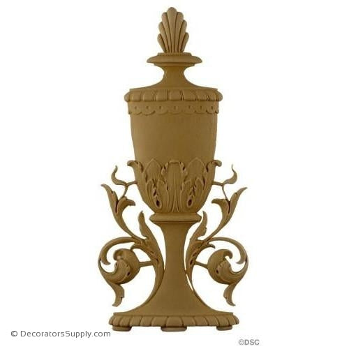 Urn-Italian 12 1/2H X 6W - 3/8Relief-ornaments-for-furniture-woodwork-Decorators Supply