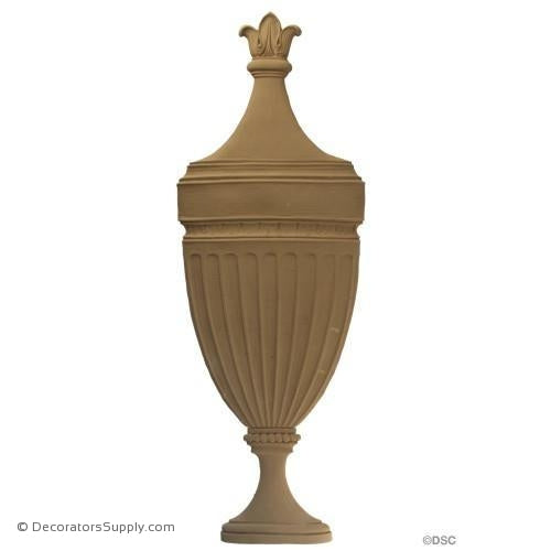 Urn-Colonial 23 1/2H X 8 1/4W - 1/2Relief-ornaments-for-furniture-woodwork-Decorators Supply