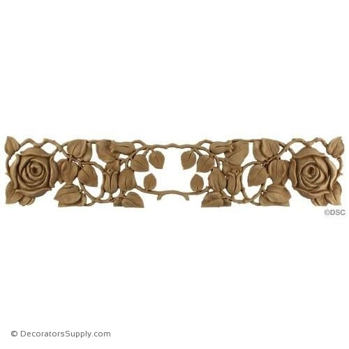 Rose Vine Design - French 4H X 19 1/2W - 3/8Relief-ornaments-furniture-woodwork-Decorators Supply