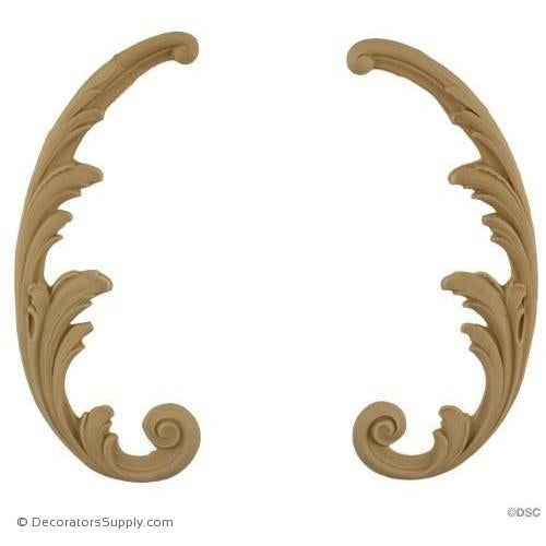 Specialty 7 High 2 3/4 Wide-ornaments-for-furniture-wooodwork-Decorators Supply