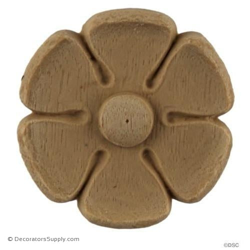 Rosette - Circle-Classic - 1 5/8Diameter - 3/16Relief-woodwork-furniture-ornaments-Decorators Supply