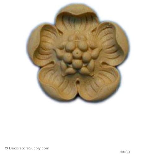 "Rosette - Circle - Ren. - 1 7/8"" Diameter - 5/16"" Relief-woodwork-furniture-ornaments-Decorators Supply"