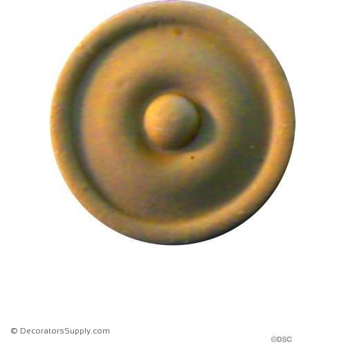 Rosette - Circle-Modern - 1Diameter - 1/8Relief-woodwork-furniture-ornaments-Decorators Supply