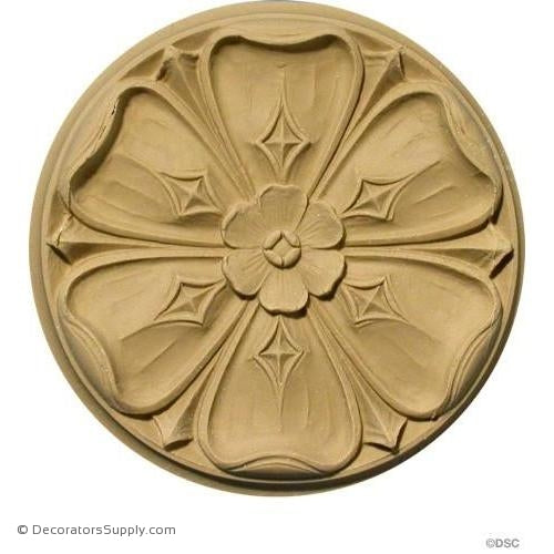 Rosette - Circle-Ren. - 5Diameter - 1/2Relief-woodwork-furniture-ornaments-Decorators Supply