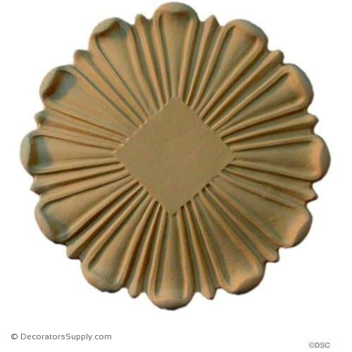 Rosette - Circle-Classic - 6 3/8Diameter - 3/8Relief-woodwork-furniture-ornaments-Decorators Supply