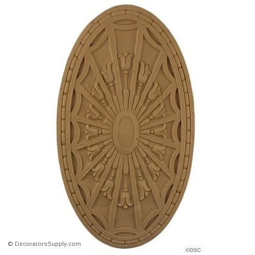 Rosette - Oval-Colonial 10H X 7  1/8W - 1/4Relief