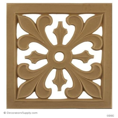 Rosette - Square-Romanesque Ea. 5 1/2H X 5 1/2W - 3/16Rel-ornaments-for-woodwork-furniture-Decorators Supply
